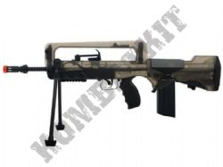 FAMAS F1 Electric AEG Airsoft Machine Gun Black and Smoked Official Model